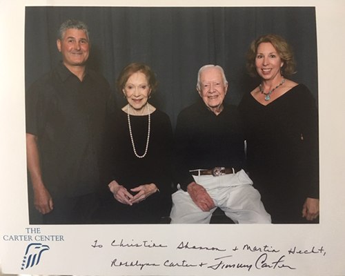 Martin and Christine on a Tour with Jimmy Carter