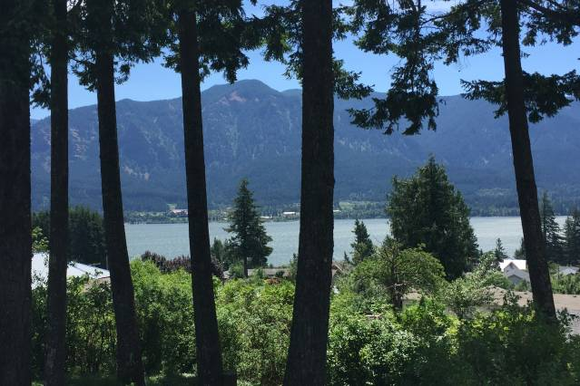 View of Columbia River Gorge from Home in Stevenson Washington