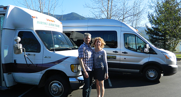 Martin and Christine with Passenger Vans